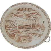 Vernon Kilns Pennsylvania Turnpike Commemorative Plate