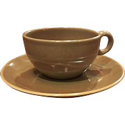 Iroquois Casual Brown Cup & Saucer Set
