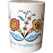 Berggren Swedish Rosemaling Pepper Shaker