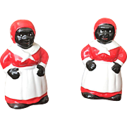 Black Americana Mammy Salt & Pepper Set