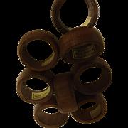 Kemp & Beatley Burma Teak Napkin Ring Set of 8
