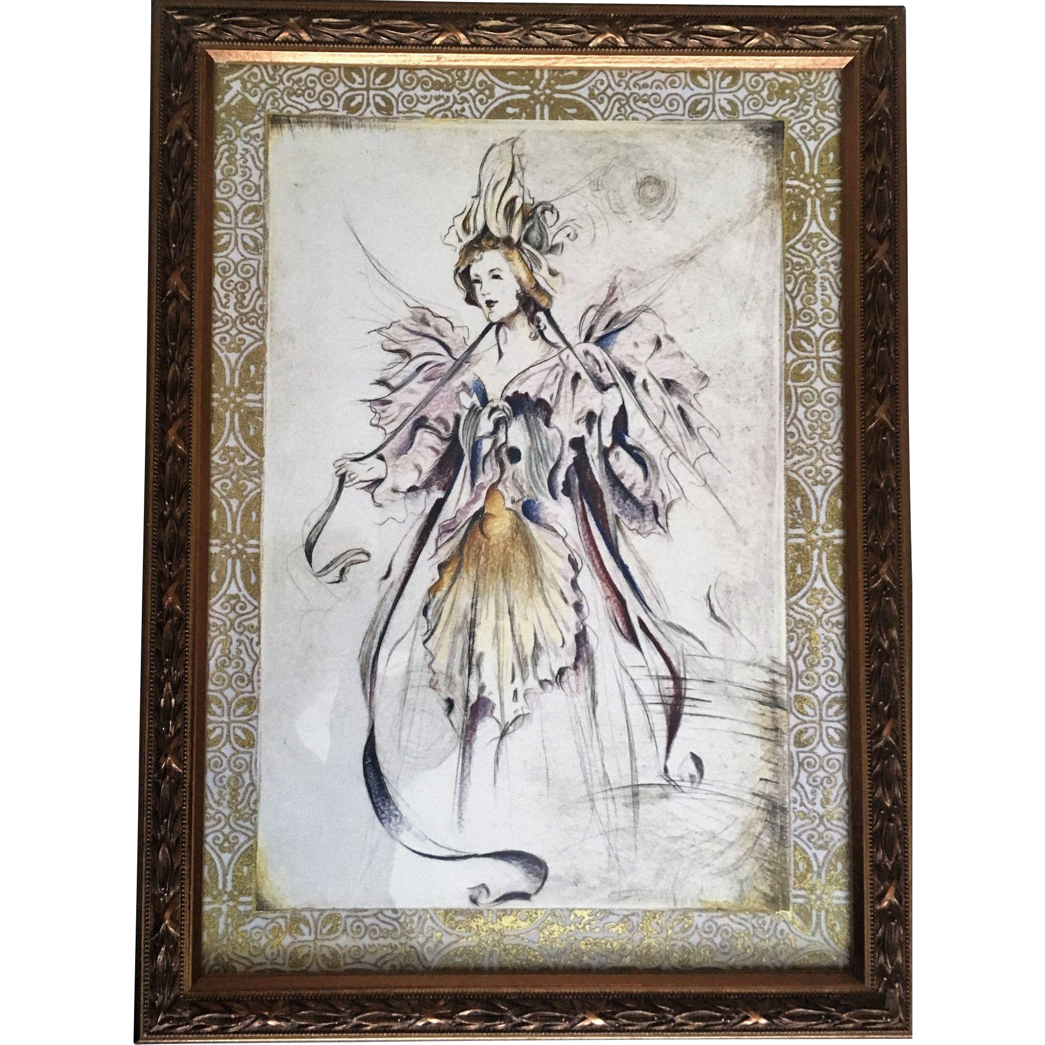 bombay company framed fairy print set from anniesavenue on ruby lane