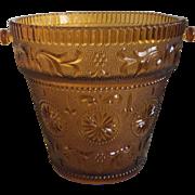 Indiana Glass Tiara Exclusives Amber Ice Bucket