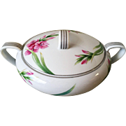 Noritake Nippon Toki Kaisha Karen Covered Sugar Platinum