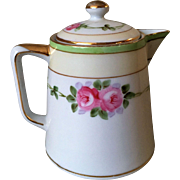 Nippon Covered Creamer Roses with Green Band