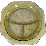 Federal Glass Madrid Amber Grill Plate