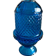 Viking Glass Glimmer Blue Bluenique Diamond Point Fairy Lamp