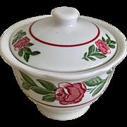 Jackson China Red Rose Covered Sugar