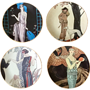 Fitz & Floyd Fashion Plate Set