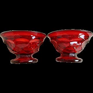 Viking Georgian Ruby Sherbet Set