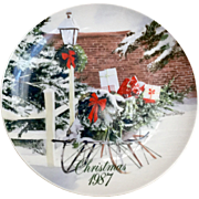 Smuckers 1987 Christmas Series Plate