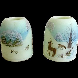 Fenton Fairy Lamp Top 1979 Nature's Christmas
