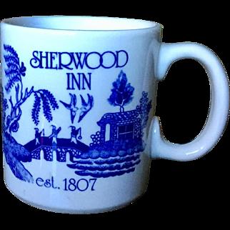 Sherwood Inn Blue Willow Syracuse Mug