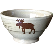 Mill Creek Stoneware Moose Open Sugar Bowl