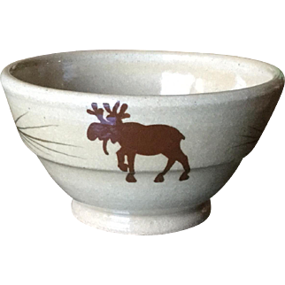 Mill Creek Stoneware Moose Open Sugar Bowl