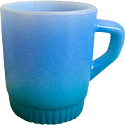 Fire King Rainbow Blue Mug