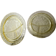 Hocking Cameo Yellow Grill Plate
