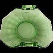 Fostoria Fairfax Green Depression Glass Bon Bon Dish