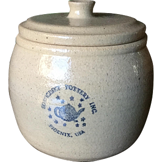 Somerset Pottery Covered Pot