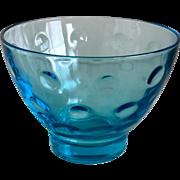 Hazel Atlas Capri Dots Turquoise Sherbet/Old Fashioned Glass Set