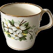 Royal Albert White Dogwood Mug Brushed Gold