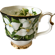 Royal Albert Provincial Flowers Trillium Footed Cup