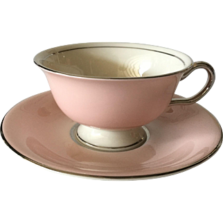 Castleton Shell Pink Footed Cup & Saucer
