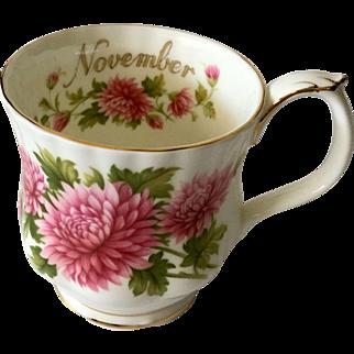 Royal Albert Flower of the Month November Mug Chrysanthemum