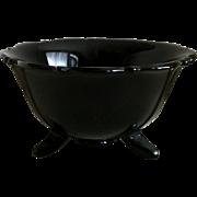 Smith Mt. Pleasant Black Amethyst Footed Bowl