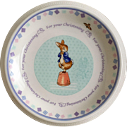 Wedgwood Peter Rabbit Christening Child's Plate