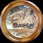 Wells Fargo Stagecoach Framed Plate
