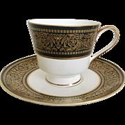 Mikasa Mount Holyoke Footed Cup & Saucer Set