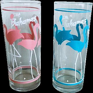 Libbey Flamingo Highball Glass Set