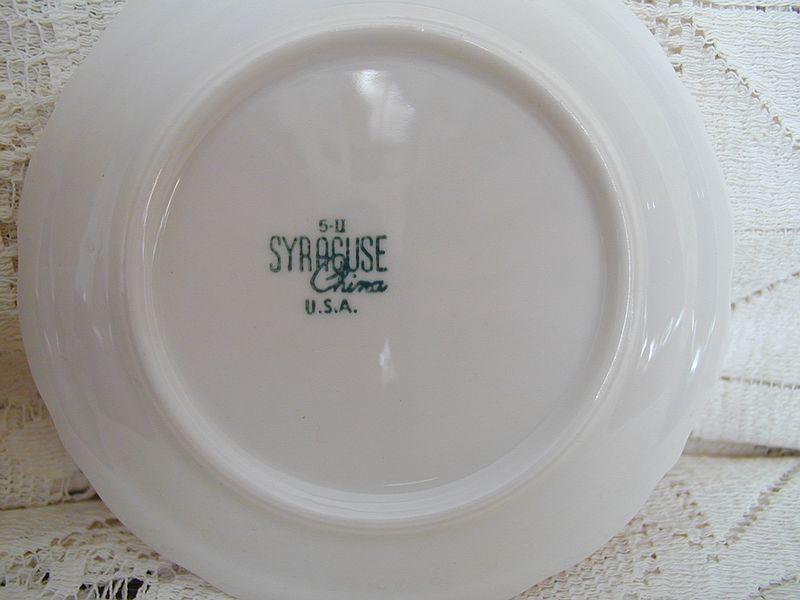 Railroad Collectors Association Incorporated - Syracuse China Dates