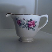Homer Laughlin China Lattice Rose Creamer