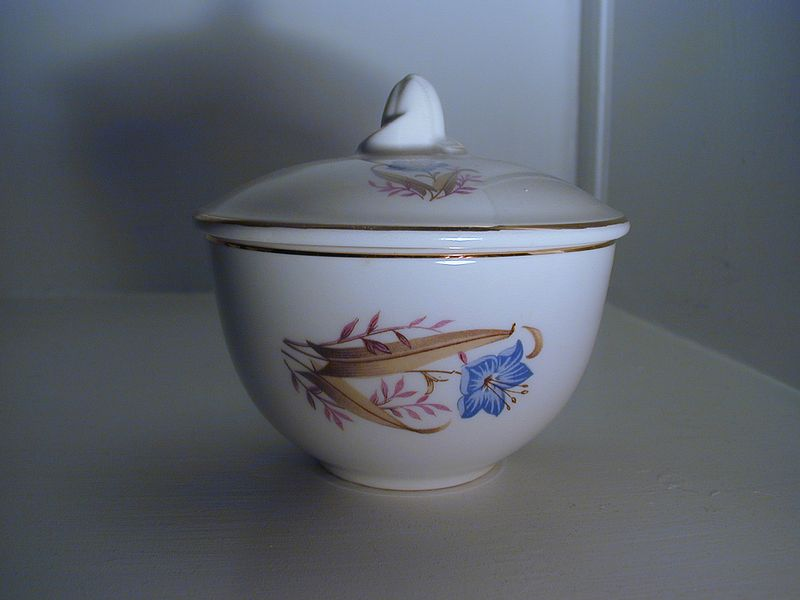Vintage Wildflower Sugar Bowl