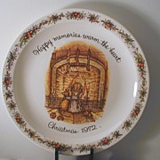 Holly Hobbie Christmas 1972 Plate
