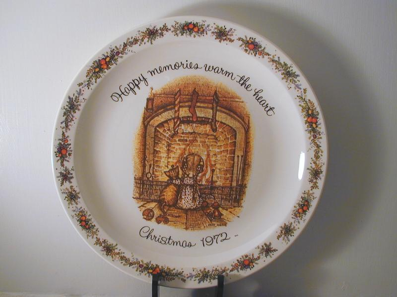 Holly Hobbie Christmas 1972 Plate From Anniesavenue On