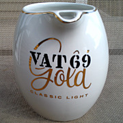 VAT 69 Gold Classic Light Whiskey ~ Water Pitcher