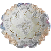 German Handpainted Bowl Wild Roses - IPF Mark
