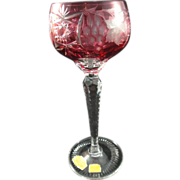 Cut-to-Clear Red Goblet Western Germany