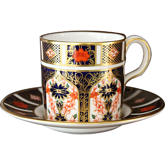 "Royal Crown Derby ""Old Imari"" Demitasse Cup and Saucer - Pattern 1128"