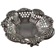 Sterling Nut Dish Highly Decorated Birmingham, England