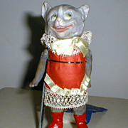 Gebruder Heubach Gray whimsical Cat with clothes