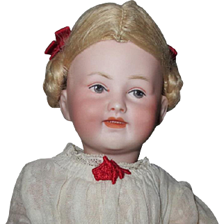 """Character girl marked only 4B - 12"""", perfect bisque, looks similar to a Heubach"""