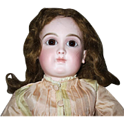 "French Schmitt girl - 17"", closed mouth and perfect bisque"