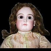 "French Schmitt girl - 17"", closed mouth , original wig"