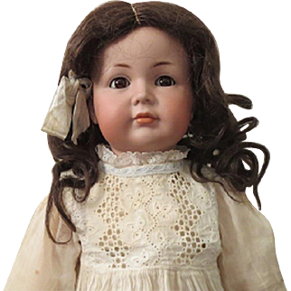 """K*R 117A - 22 1/2"""", character girl, closed mouth, perfect bisque"""