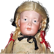 """Rare AM character with no mold number - 14"""", perfect bisque"""