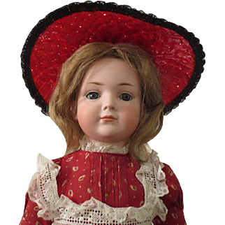 """Kley and Hahn 546 character girl - 19"""", closed mouthy, perfect bisque"""